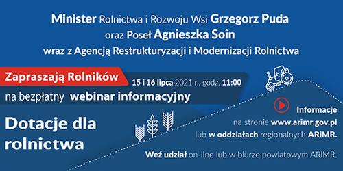 zaproszenie_webinar dotacje dla rolnictwa_slider